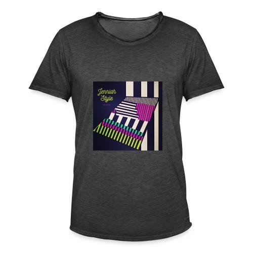 Stairs - stripe - Männer Vintage T-Shirt