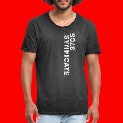 LOGO WHITE - Vintage-T-shirt herr