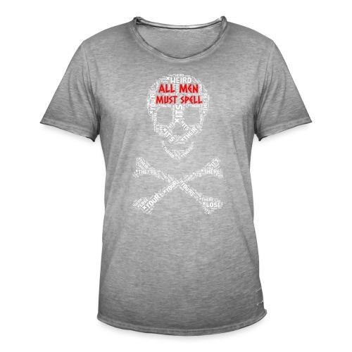 All Men Must Spell - Herre vintage T-shirt