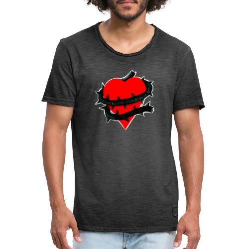 cuore ingrato - Camiseta vintage hombre