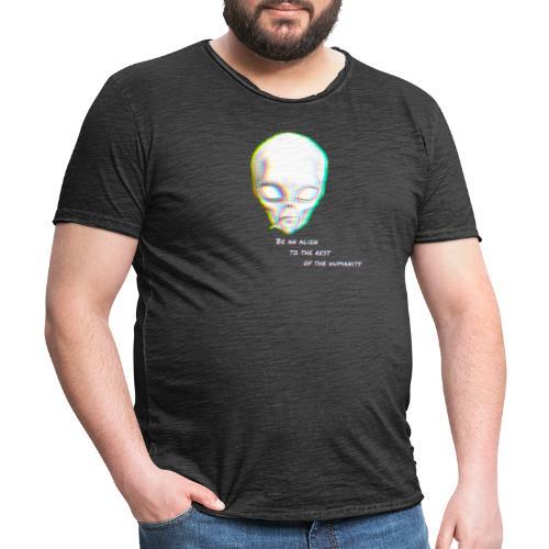 Alien to the world - Camiseta vintage hombre