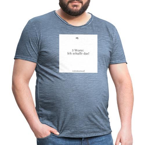 3 worte Weiß - Männer Vintage T-Shirt
