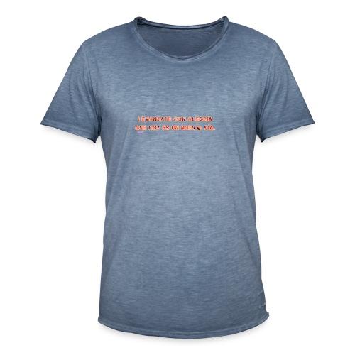 Vive con alegria - Camiseta vintage hombre