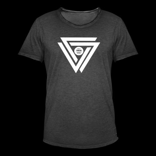 08 logo complet withe - T-shirt vintage Homme
