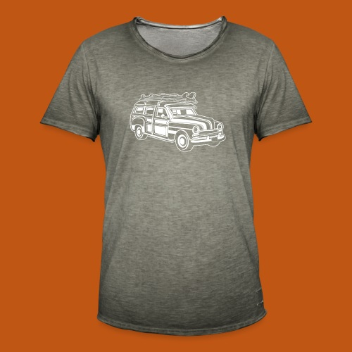 Chevy Cadilac Woodie / Oldtimer Kombi 01_weiß - Männer Vintage T-Shirt