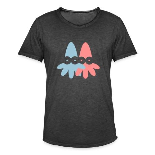2 Squids Vector - choose design colours - Men's Vintage T-Shirt