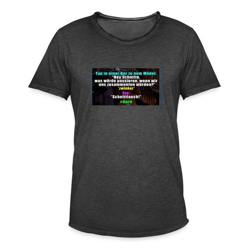 SchnitLauch - Männer Vintage T-Shirt
