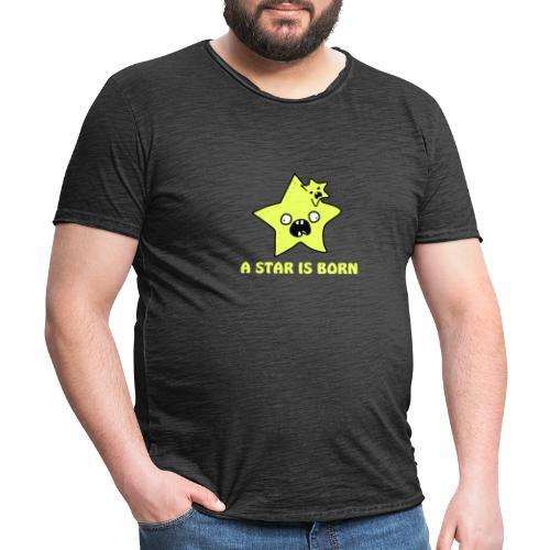 a star is born - Männer Vintage T-Shirt