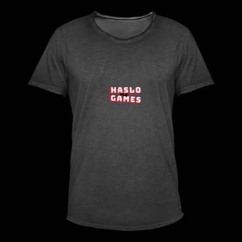 NEW HASLOGAMES LOGO - Mannen Vintage T-shirt