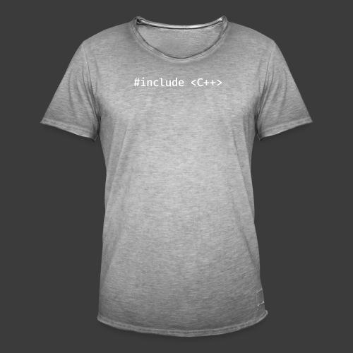 White Include Logo - Men's Vintage T-Shirt