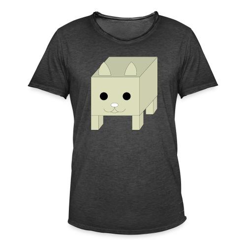 box cat - Mannen Vintage T-shirt