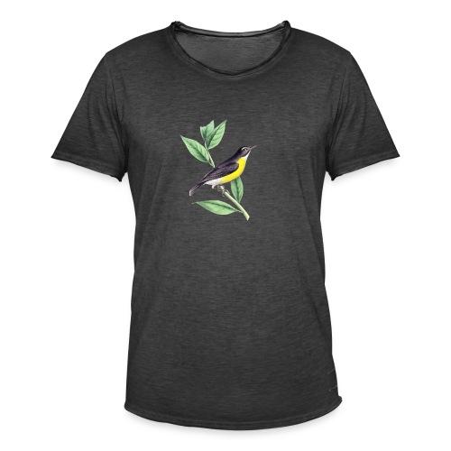 bird yellow-black - Männer Vintage T-Shirt