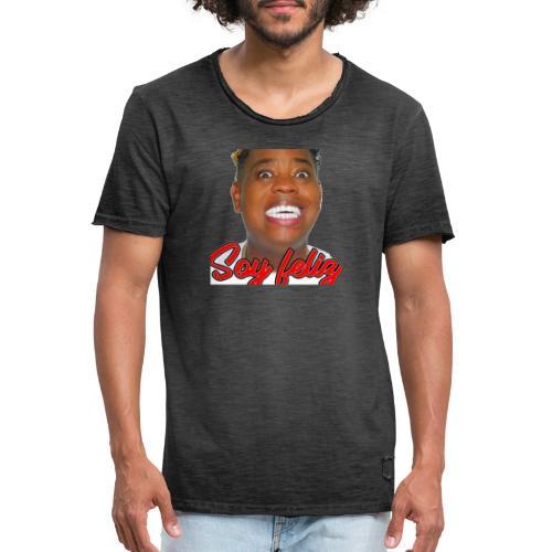 Yo Soy Feliz -- Dj Topo - Camiseta vintage hombre