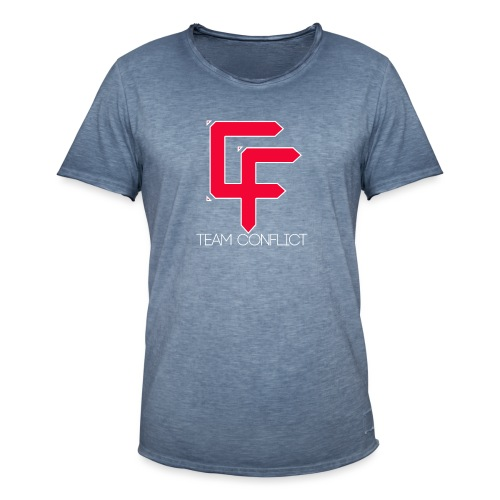 CF Final White Border t shirts with text thin whit - Men's Vintage T-Shirt