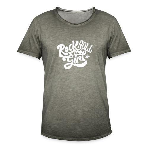 Rock n Roll Girl - Miesten vintage t-paita