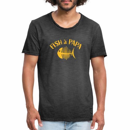 Le Fish à papa - Mannen Vintage T-shirt