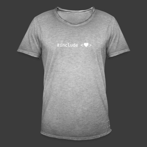 White Include Heart - Men's Vintage T-Shirt
