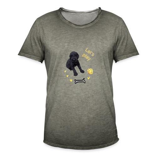 Giant Schnauzer puppy - Men's Vintage T-Shirt