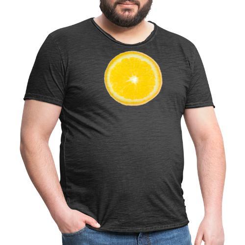 Orange - Männer Vintage T-Shirt