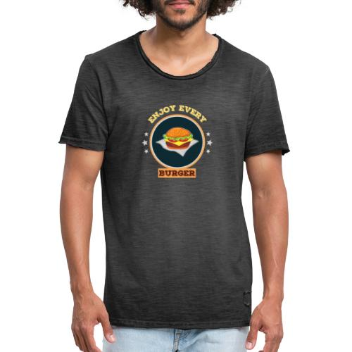 Enjoy every burger - Männer Vintage T-Shirt