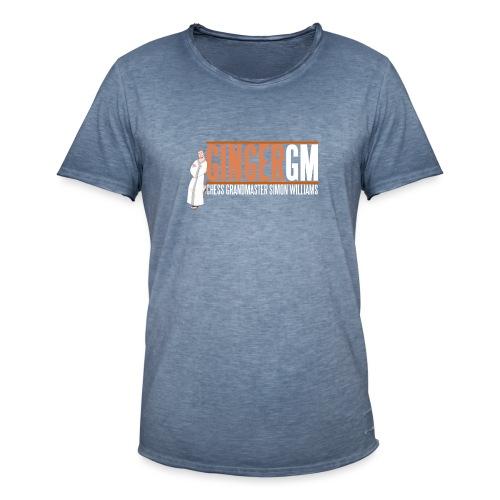 Ginger GM White Logo - Men's Vintage T-Shirt