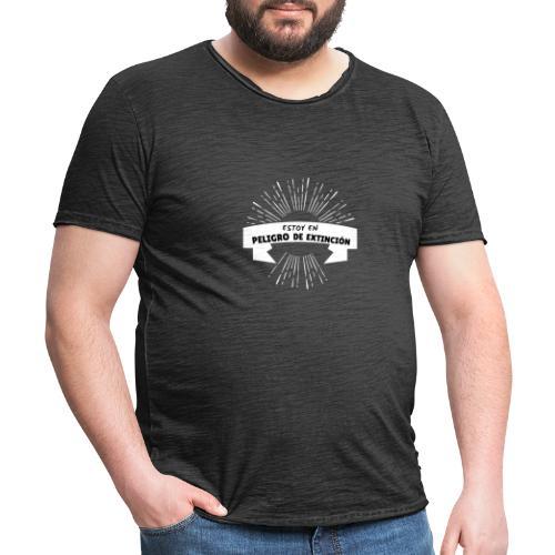 Peligro de extinción - Camiseta vintage hombre