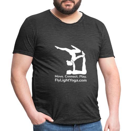 Move Connect Play white transp - Men's Vintage T-Shirt