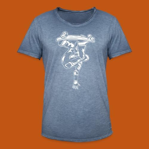 Skater / Skateboarder 03_weiß - Männer Vintage T-Shirt