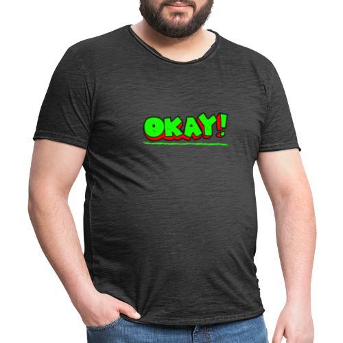 Okay - T-shirt vintage Homme