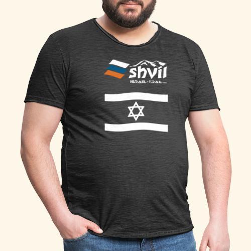Shvil-Israel weiß, mit Landesflagge Israel - Männer Vintage T-Shirt