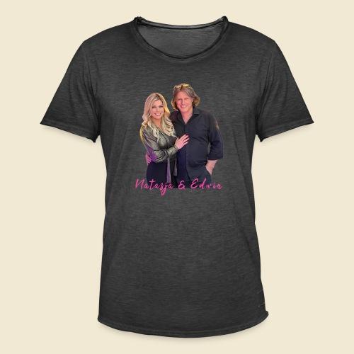 Natasja & Edwin - Mannen Vintage T-shirt