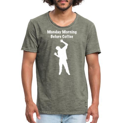 Coffee Zombie - Männer Vintage T-Shirt