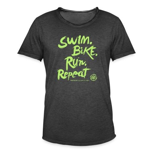 Swim. Bike. Run. Repeat - Maglietta vintage da uomo