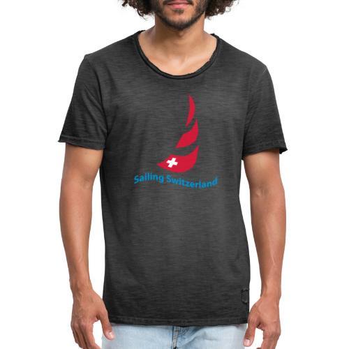 logo sailing switzerland - Männer Vintage T-Shirt