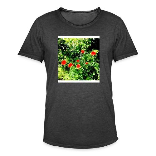 Papaveri - Maglietta vintage da uomo