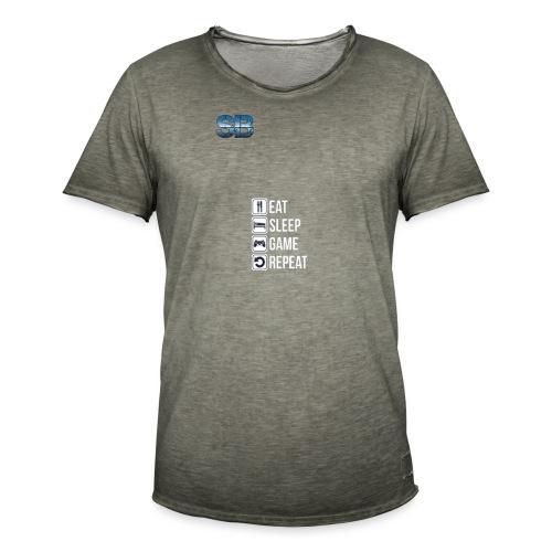 Eat Sleep Game Repeat - Herre vintage T-shirt