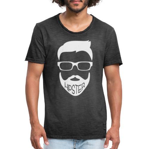 Hipster Bart Vollbart Mann Shirt Geschenk - Männer Vintage T-Shirt
