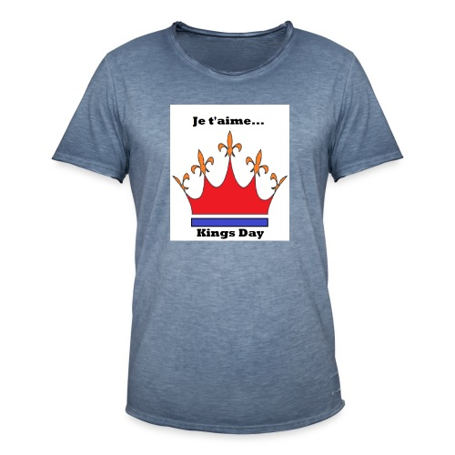 Je taime Kings Day (Je suis...) - Mannen Vintage T-shirt