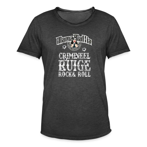 crimineel shirt wit - Mannen Vintage T-shirt