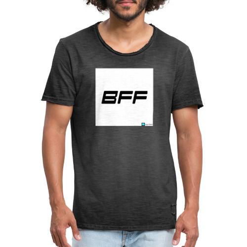white BFF - Vintage-T-shirt herr