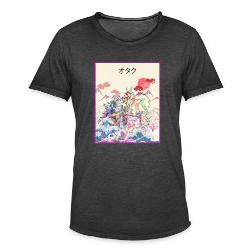 Aesthetic Vaporwave Synthwave Japan Anime Retro - Männer Vintage T-Shirt