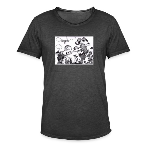 mutant mole - Vintage-T-shirt herr