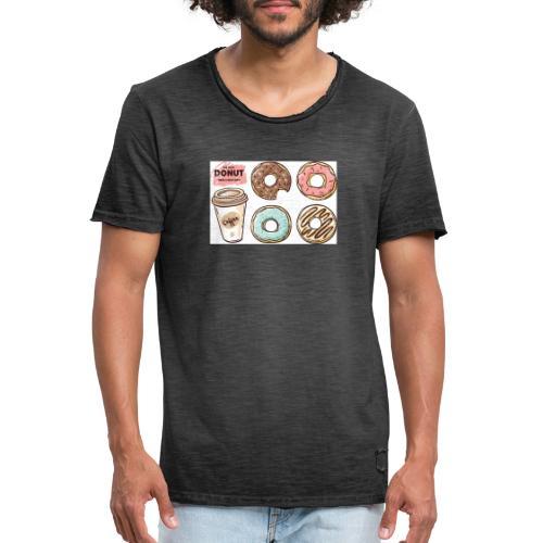 Donut & Coffe - Camiseta vintage hombre