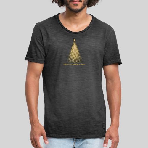 Christus Jesus unser Erretter ist geboren - Männer Vintage T-Shirt