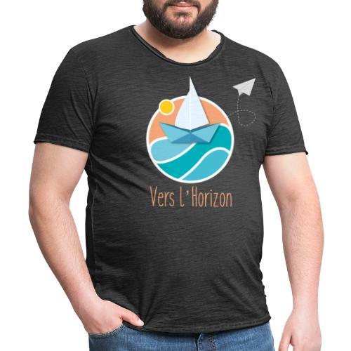 logo vers l'horizon - T-shirt vintage Homme