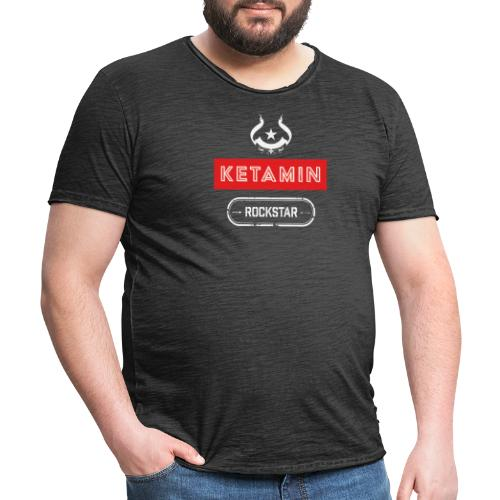 KETAMIN Rock Star - Weiß/Rot - Modern - Men's Vintage T-Shirt