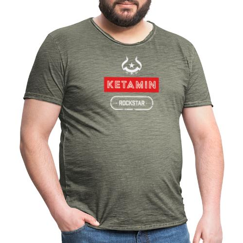 KETAMIN Rock Star - Weiß/Rot - Modern - Men's Vintage T-Shirt