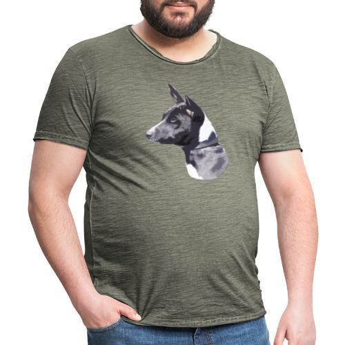 basenji black - Herre vintage T-shirt