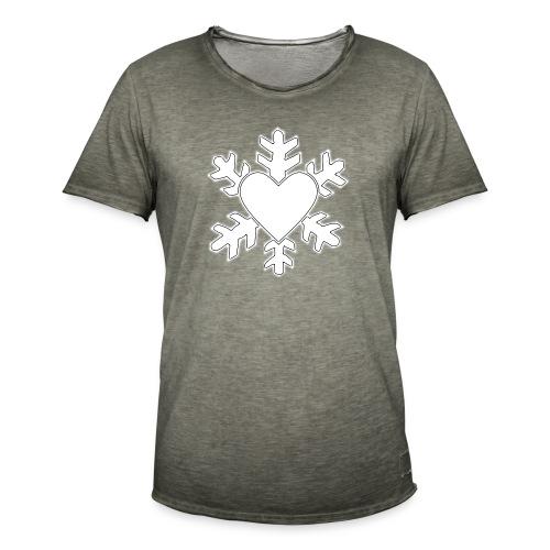 Flocon coeur 3D - T-shirt vintage Homme
