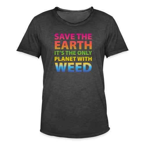 weed - sauve la terre - T-shirt vintage Homme